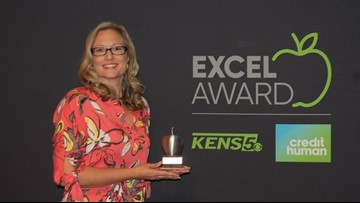 Jaime Frias wins KENS 5 Credit Human EXCEL award for Northside ISD