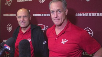 Commanders coach Mike Riley and general manager Daryl Manager talk about the start of training camp