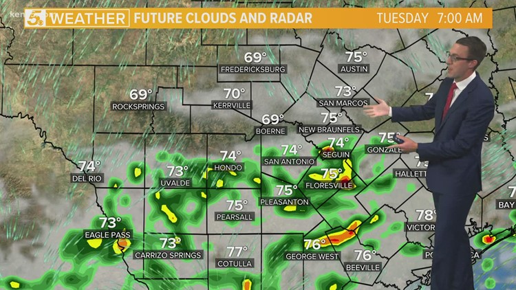 Rain chances decrease but not disappear as afternoon approaches, more moisture returns Tuesday