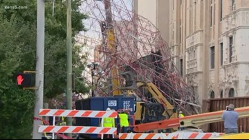 Local church releases video of damage from scaffolding collapse