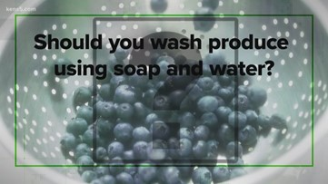 Many are saying you should wash produce with soap. Is that correct? We verify.