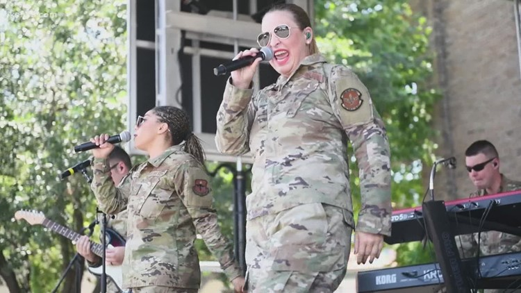 Air Force band 'Top Flight' took the Fiesta stage in style