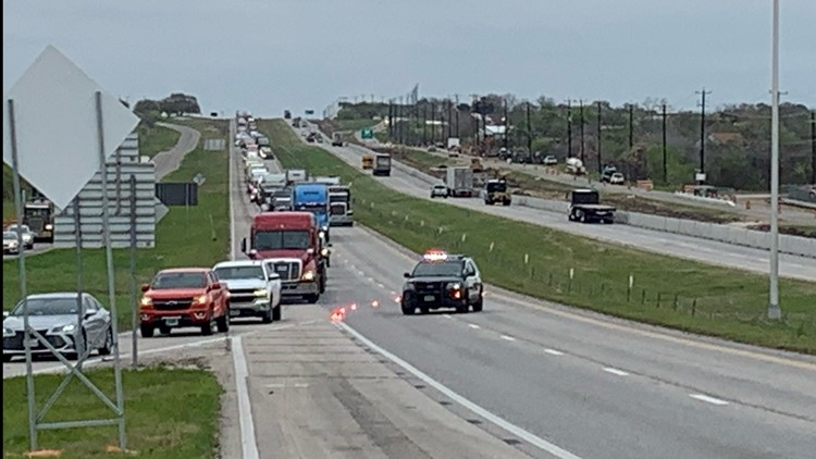 One person trapped in I-10 accident on northeast side