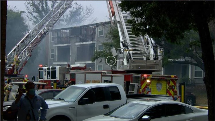 Crews rescue 10 animals in major apartment fire on the northeast side