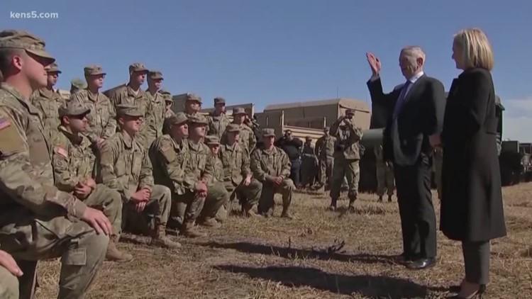 Defense secretary visits border troops