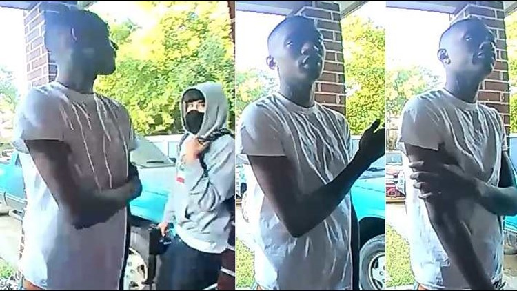 Police looking for two suspects who tried to force their way into a house on the northwest side