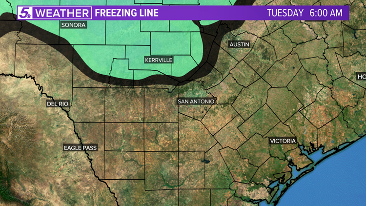 Frigid conditions are forecast for South Texas next week.