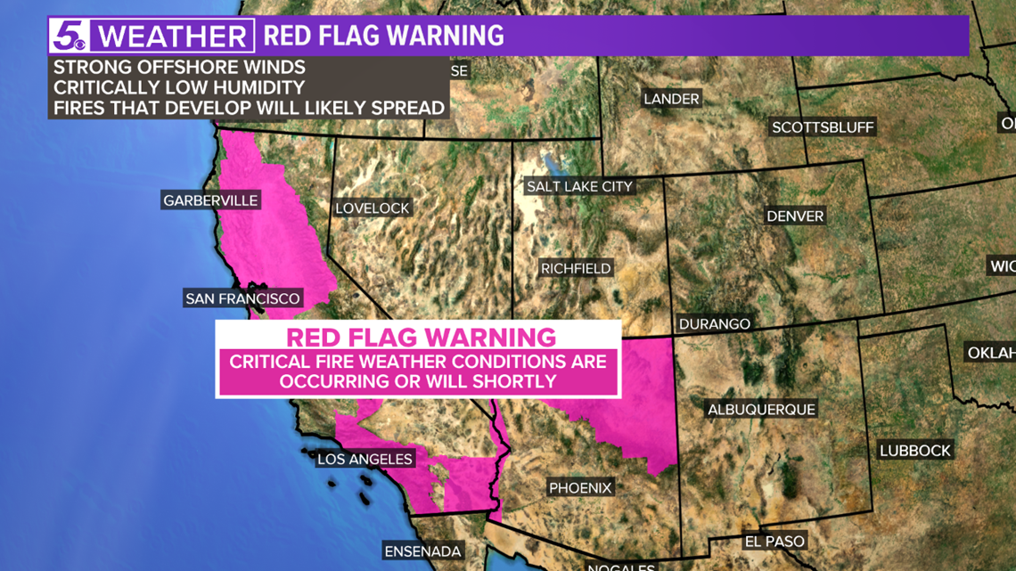 Why is California at a high risk for wildfires?