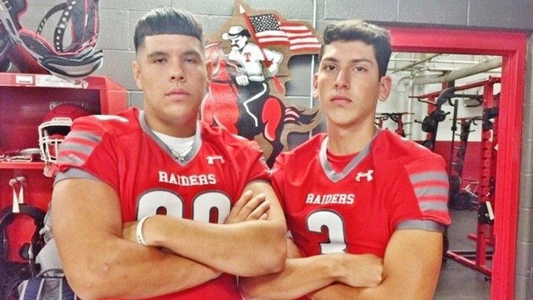 FBH Taft defensive lineman Kris Sanchez and quarterback Josue Ibarra