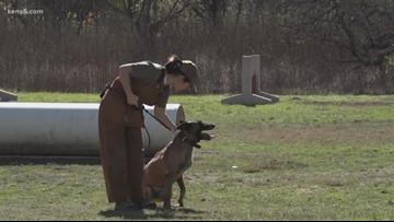 Teen in remission trains military working dogs at Lackland AFB