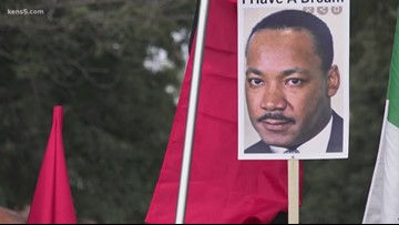 Hundreds take to downtown Laredo streets in honor of MLK Jr.