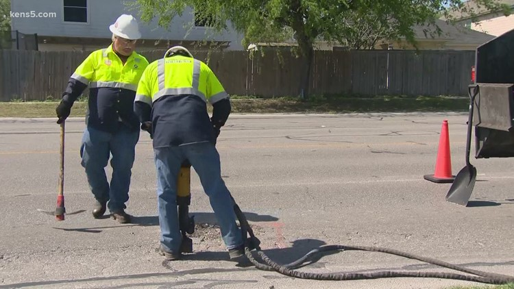 500 potholes filled Wednesday in San Antonio as city pushes to repair damage made worse by winter storm