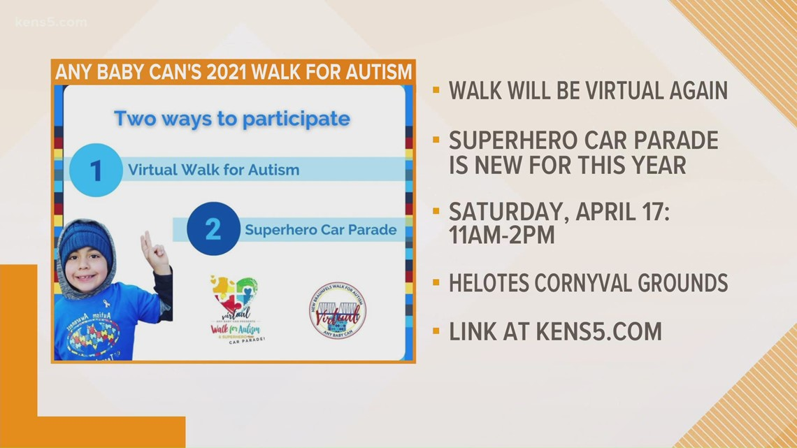 Any Baby Can's Walk for Autism remains virtual, but adds a superhero car parade for 2021