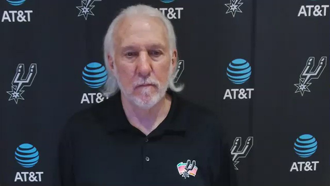 Coach Popovich praises young guys, says team's cup is empty after Spurs fall to Jazz 126-94