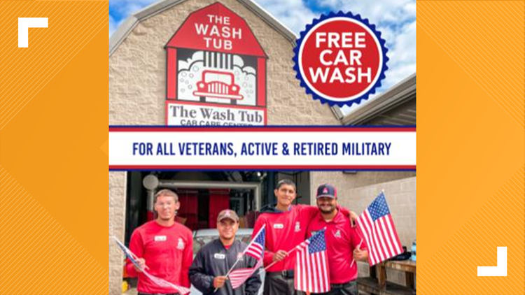How veterans, active-duty and retired military can get a free car wash