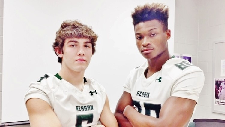 FBH Reagan free safety Jake Bullock and wide receiver Ronald Link-Milam