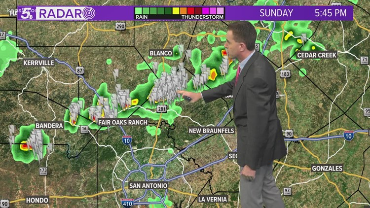Thunderstorms in the area on a warm Sunday night   KENS 5 Forecast