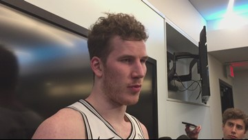 Spurs center Jakob Poeltl on Tuesday night's win over the Suns