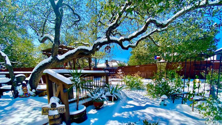 PHOTO GALLERY: Snow and ice bring winter wonderland to San Antonio area