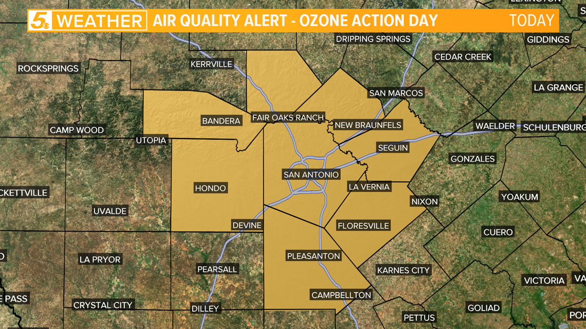 Ozone action day in place for San Antonio area