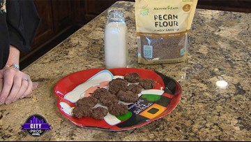 CITY PROS: Pecan flour chocolate chip cookies with Nature's Eats