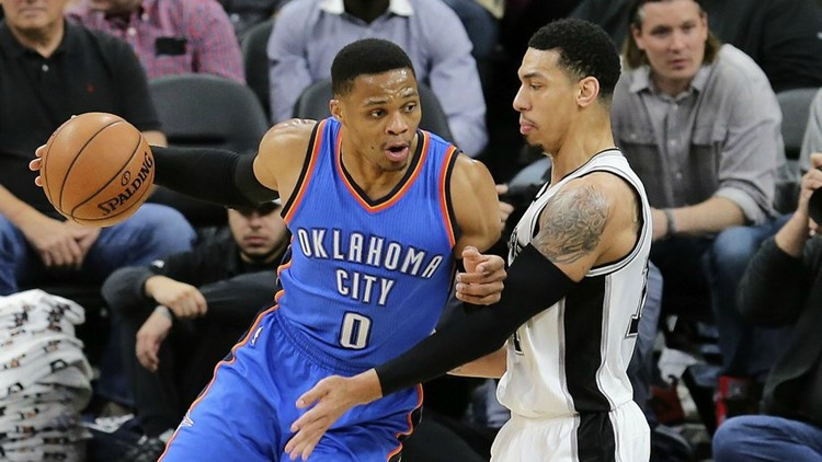 Aldridge's double-double moves Spurs past Thunder, 103-99