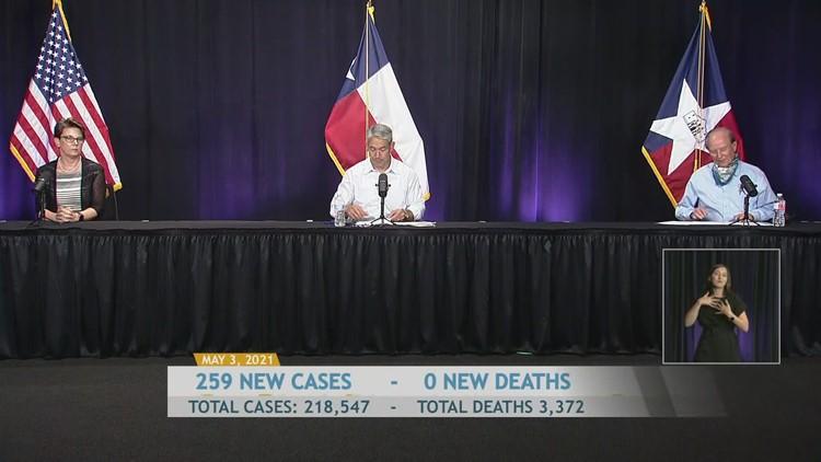 San Antonio/Bexar County coronavirus update, May 3, 2021