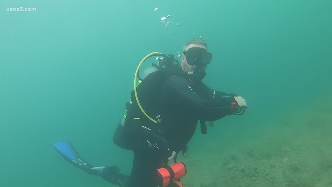 What it's like diving in Canyon Lake