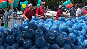 Thousands of kids have a ball at Final Four Dribble event