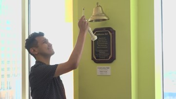 SA man rings bell to end three-year battle against cancer