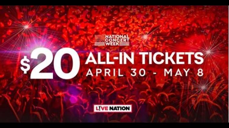 Live Nation Announces $20 Concert Ticket Deal