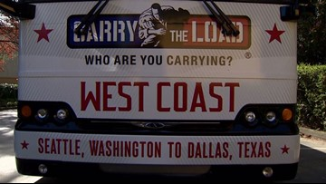 Carry the Load's West Coast relay begins on long journey to Texas