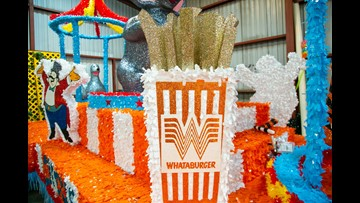 WATCH: Whataburger's Battle of Flowers float a real showstopper this year