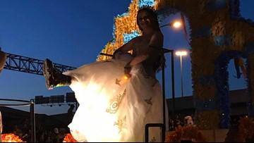 WATCH: Fiesta Flambeau lights up the night