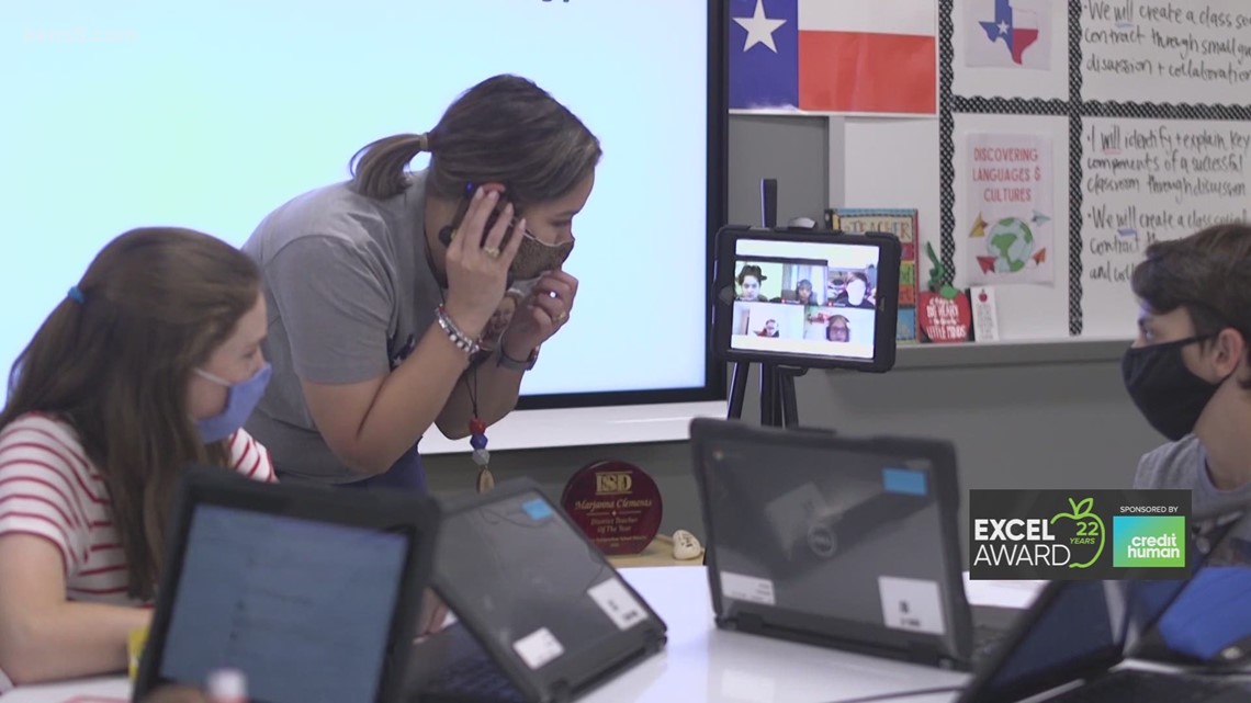 Janna Clements wins KENS 5 Credit Human EXCEL Award for Boerne ISD