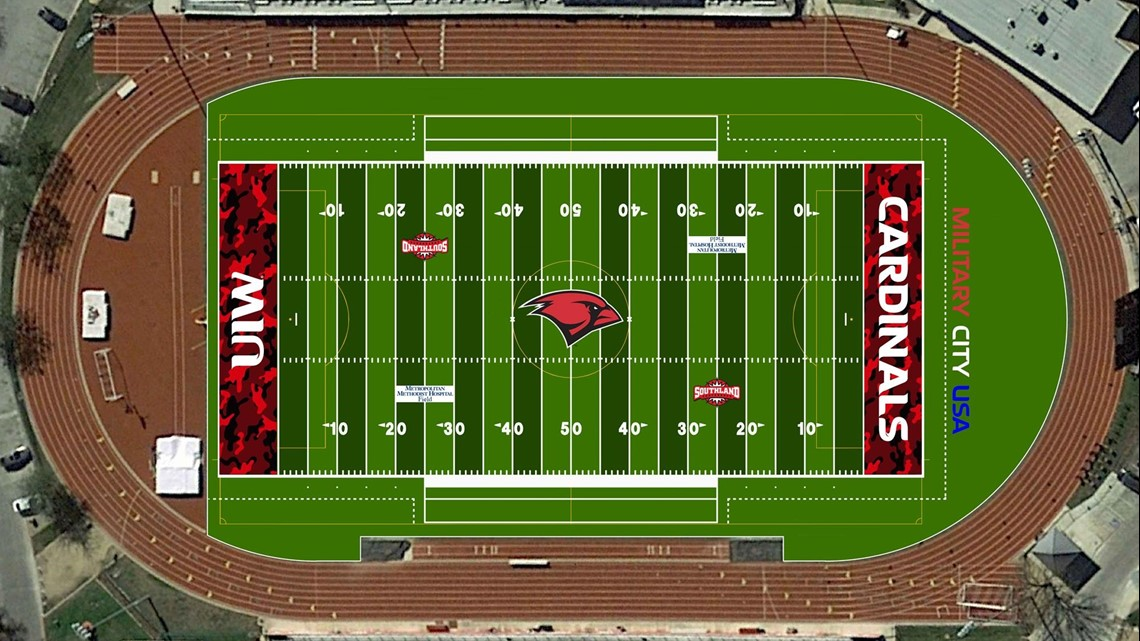 Uiw S New Football Field Will Have Camouflage Endzones