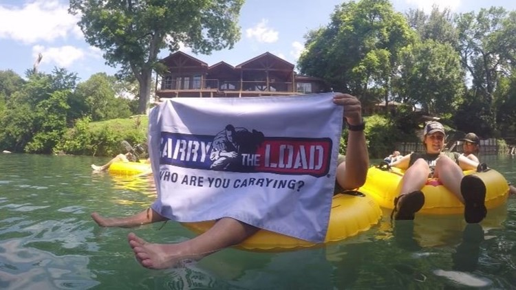 Tubing time! Carry The Load takes a break from pounding the pavement