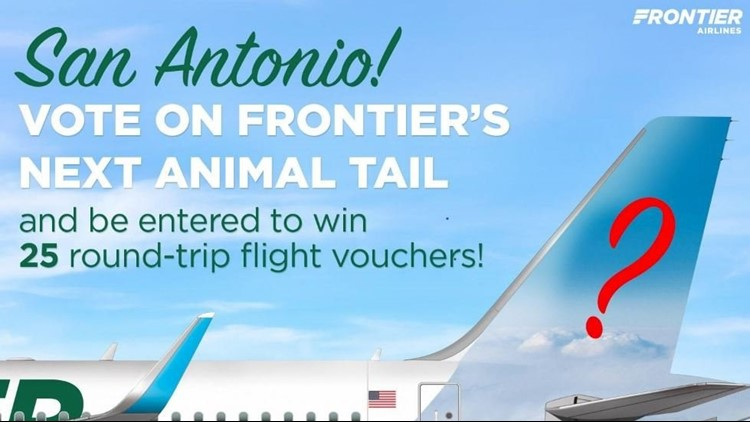 Participants will be able to vote on which Texas animal will be featured on a new Frontier plane, as well as submit potential names for the animal. You can enter online.