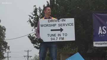 DRIVE-IN CHURCH: San Antonio congregation comes together over the radio waves