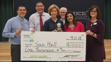 Sue Hall wins EXCEL Award for Boerne ISD