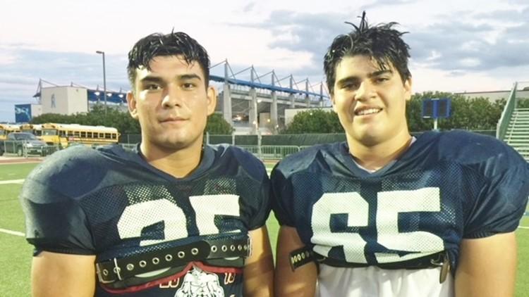 FBH Brandeis linebacker Mark Lara and cousin Chris Garza_1536941619009.jpg.jpg