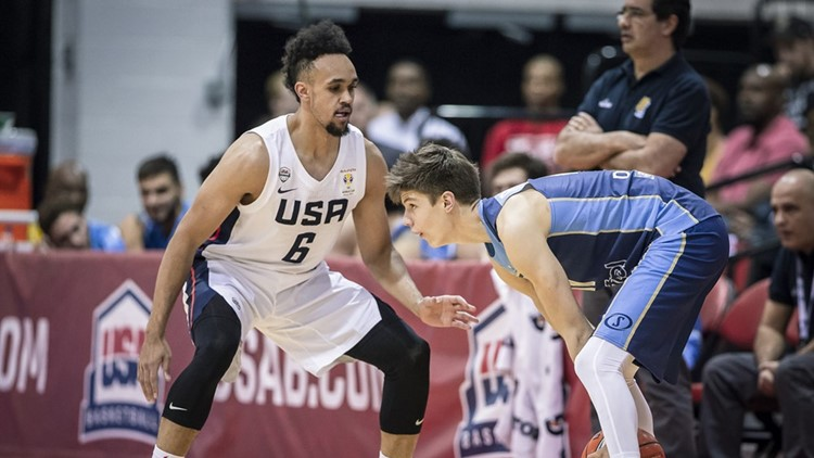 Team USA handled Uruguay 114-57 in the second round of FIBA World Cup qualifying.