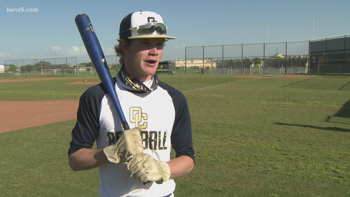 The story behind an O'Connor High baseball player's unusual batting gloves