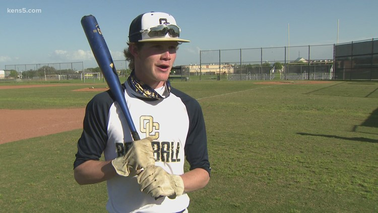 The story behind an O'Connor HS baseball player's unusual 'batting' gloves