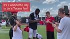 Houston Texans sign autographs