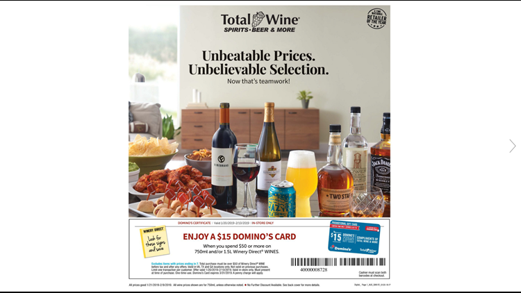 Total Wine and More deal