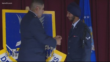 A Sikh airman's historic day paves the way for others of his faith