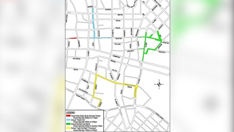 Special events to cause multiple downtown San Antonio road closures ...
