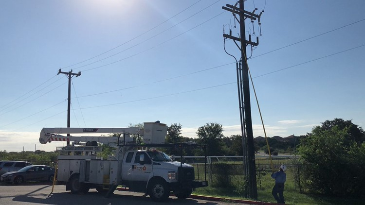 Power was out at a northwest-side middle school.