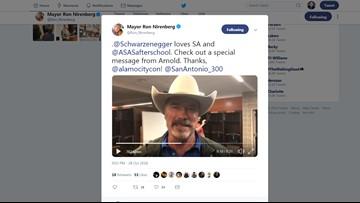 Arnold Schwarzenegger wishes San Antonio a happy 300th birthday